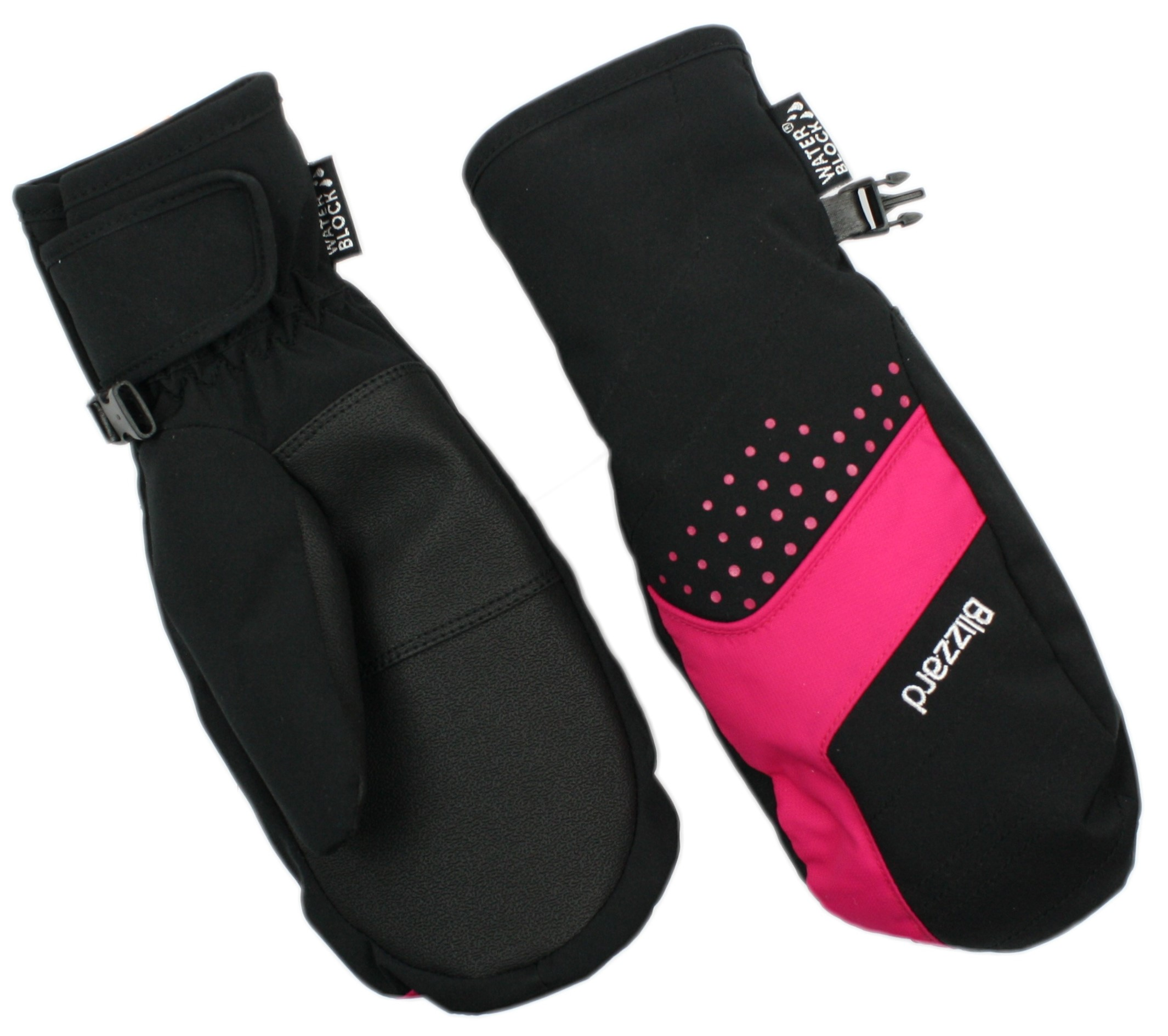 LYŽAŘSKÉ RUKAVICE BLIZZARD MITTEN JUNIOR SKI GLOVES, BLACK/PINK