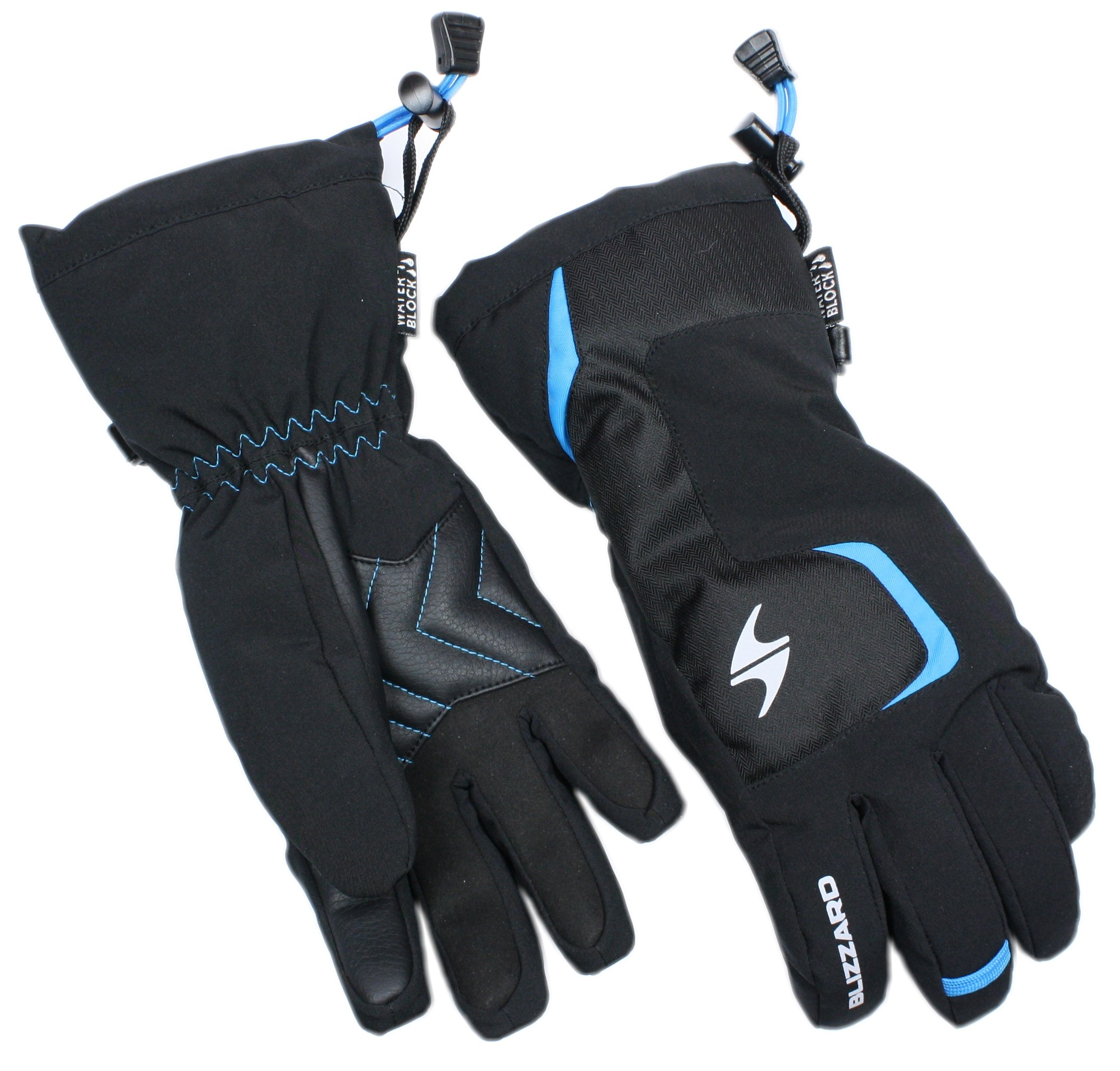 LYŽAŘSKÉ RUKAVICE BLIZZARD REFLEX JUNIOR SKI GLOVES, BLACK/BLUE