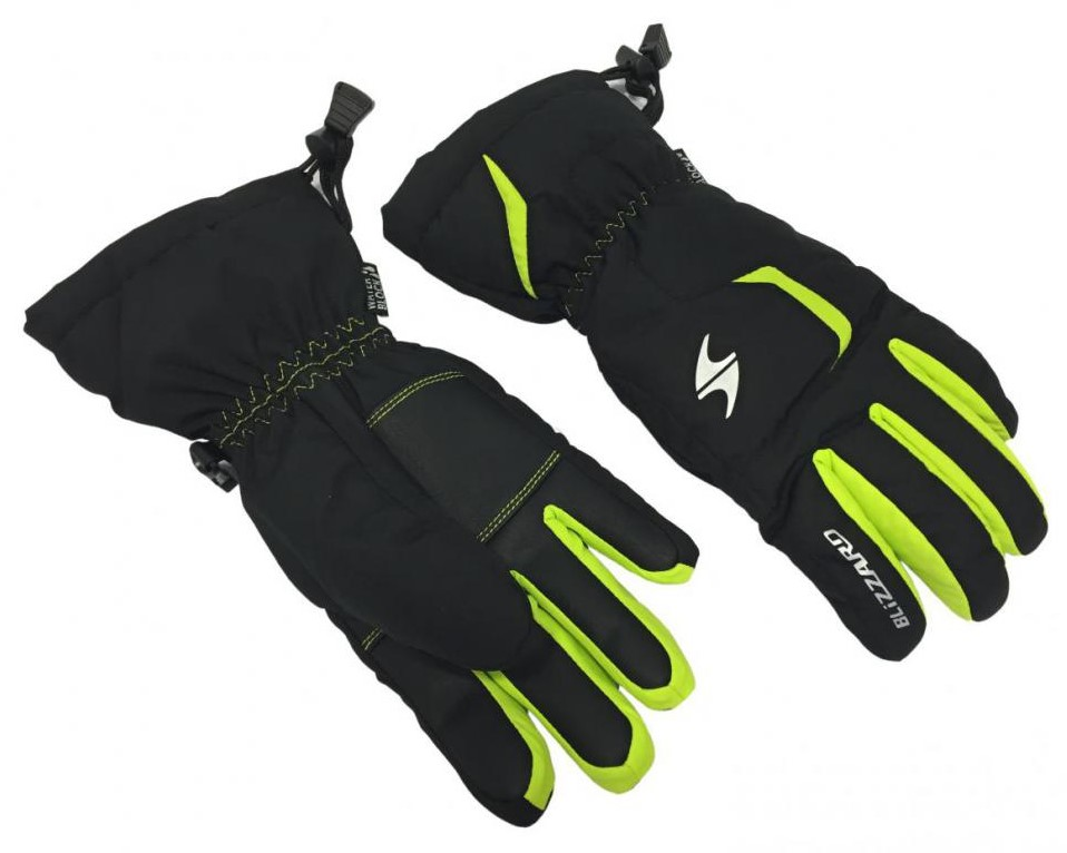 LYŽAŘSKÉ RUKAVICE BLIZZARD REFLEX JUNIOR SKI GLOVES, BLACK/GREEN