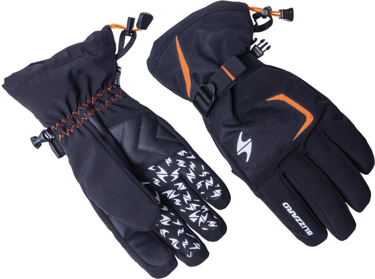 LYŽAŘSKÉ RUKAVICE BLIZZARD REFLEX, BLACK/ORANGE